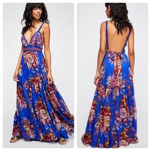 Free People Manarola floral embroidered maxi dress